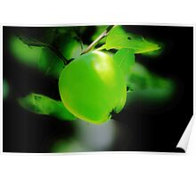Green Apple Glow Poster
