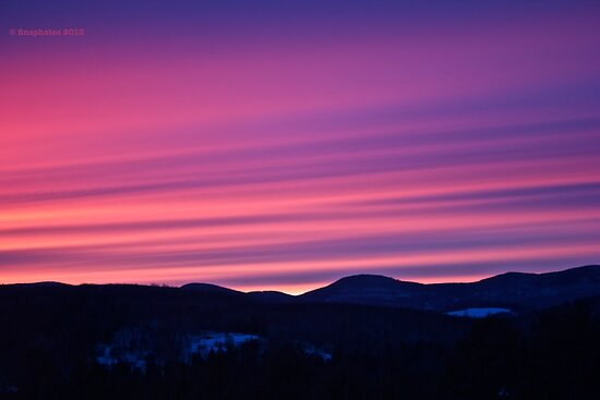 Sunset over Standard Mountain by finsphotos
