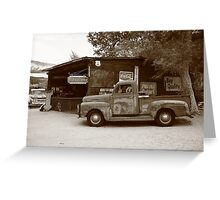 Route 66 Garage and Pickup Greeting Card