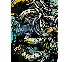 The Battered Engine Photographic Print