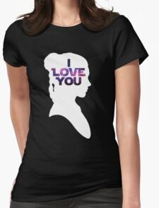 Star Wars Leia 'I Love You' White Silhouette Couple Tee T-Shirt