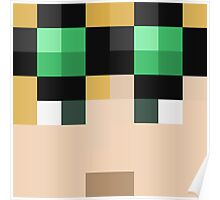 LividCoffee Minecraft skin - Yogscast Duncan face Poster