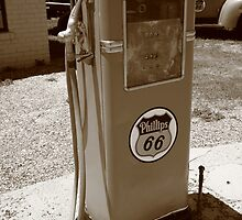 Route 66 Gas Pump by Frank Romeo
