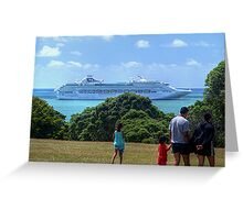 Sea Princess in the Bay of Islands, New Zealand.......! Greeting Card