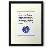 God and Science Framed Print
