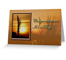 Congratulations It's A Boy Sunset Greeting Card