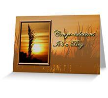 Congratulations It's A Boy Sunset Greeting Card