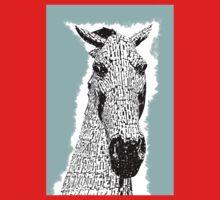 Kelpie Sketch Metal Horse Sculpture Baby Tee