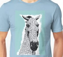 Kelpie Sketch Metal Horse Sculpture Unisex T-Shirt