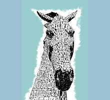 Kelpie Sketch Metal Horse Sculpture Unisex T-Shirt