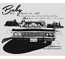 Baby Supernatural 67 Impala Photographic Print