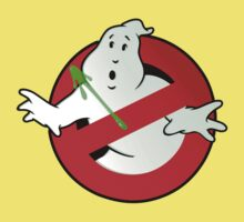 Who Busts The Ghost Busters? (logo) v3 Baby Tee