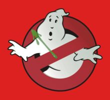 Who Busts The Ghost Busters? (logo) v3 Kids Tee