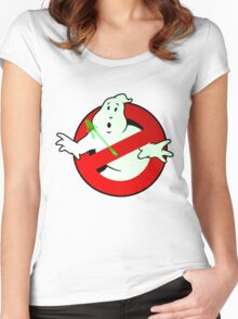 Who Busts The Ghost Busters? (logo) v3 Women's Fitted Scoop T-Shirt