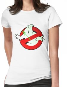 Who Busts The Ghost Busters? (logo) v3 Womens Fitted T-Shirt