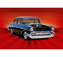 "1957 Chevy ""Post"" Coupe Photographic Print"