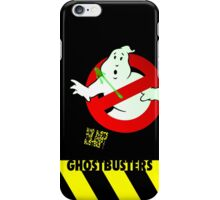 Who Busts The Ghost Busters? (black) v3 iPhone Case/Skin