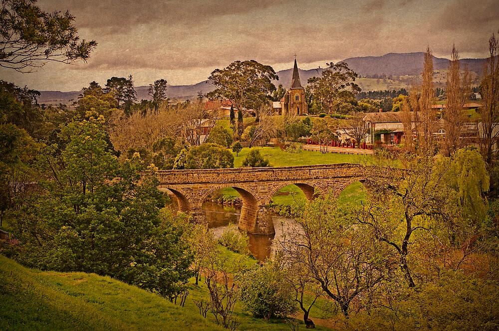 Richmond Historic Village - Bridge and Church View by TonyCrehan