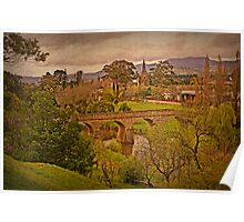 Richmond Historic Village - Bridge and Church View Poster