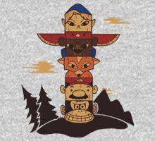 64bit Totem Pole One Piece - Long Sleeve