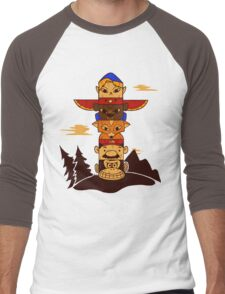 64bit Totem Pole Men's Baseball ¾ T-Shirt