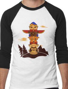64bit Totem Pole Men's Baseball ¾ T-Shirt