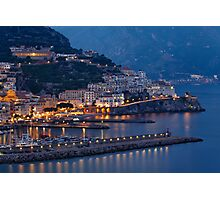 Amalfi Night Vista Photographic Print