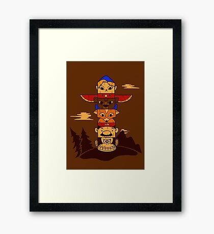 64bit Totem Pole Framed Print
