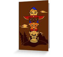 64bit Totem Pole Greeting Card