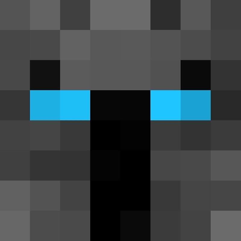 18123960 Popularmmos Minecraft Skin on Spiral Frame