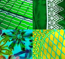 Green Collage by Tamarra