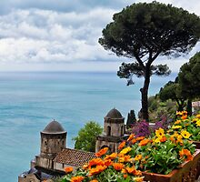 Vista from Villa Rufulo by George Oze