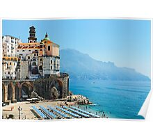 Amalfi Coast Beach Poster