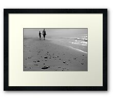 walking by line Framed Print