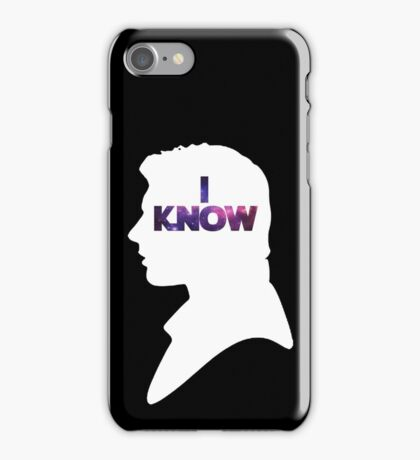 Star Wars Han 'I Know' White Silhouette Couple Tee  iPhone Case/Skin