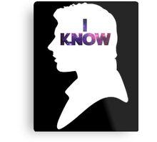 Star Wars Han 'I Know' White Silhouette Couple Tee  Metal Print