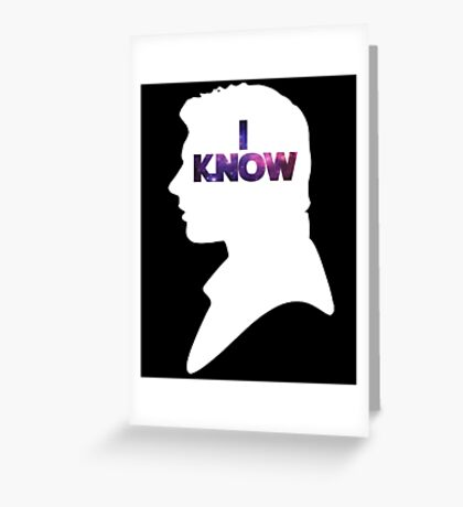 Star Wars Han 'I Know' White Silhouette Couple Tee  Greeting Card