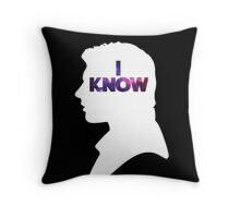 Star Wars Han 'I Know' White Silhouette Couple Tee  Throw Pillow