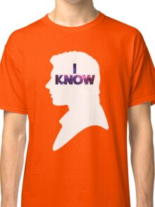 Star Wars Han 'I Know' White Silhouette Couple Tee  Classic T-Shirt