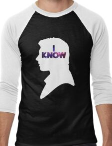 Star Wars Han 'I Know' White Silhouette Couple Tee  Men's Baseball ¾ T-Shirt