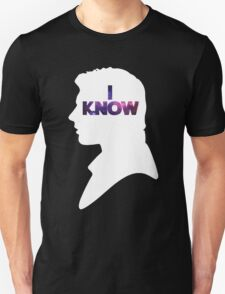Star Wars Han 'I Know' White Silhouette Couple Tee  T-Shirt