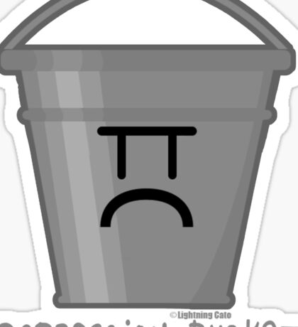 Depression Bucket Sticker