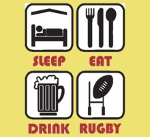 EAT SLEEP RUGBY Kids Tee