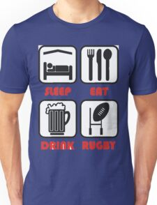 EAT SLEEP RUGBY Unisex T-Shirt