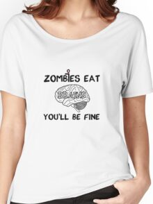Zombies Eat Brains Women's Relaxed Fit T-Shirt