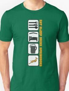 EAT SLEEP Springbok Rugby Unisex T-Shirt