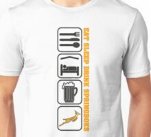 EAT SLEEP Springbok Rugby Unisex T-Shirt