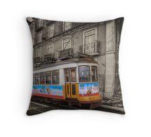 Carris Tram 574 Lisbon Throw Pillow
