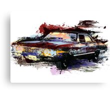 Baby Supernatural 67 Impala Watercolor Canvas Print