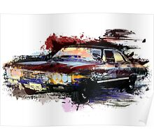 Baby Supernatural 67 Impala Watercolor Poster